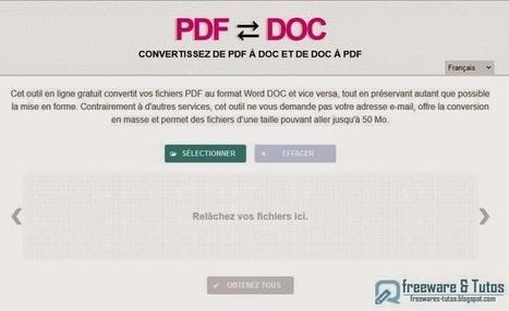 PDFDOC.com : un outil en ligne pour convertir de PDF à DOC et vice versa | TICE en tous genres éducatifs | Scoop.it
