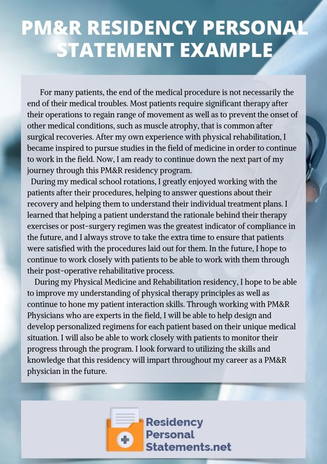 Pediatrics Residency Personal Statement Sample