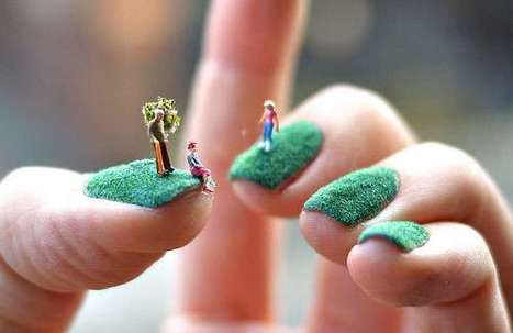 Miniature garden fingernails unusual nail art miniature garden fingernails unusual nail art ideas scoop prinsesfo Images
