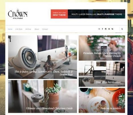 Crown Creative Blogger Template by Yo..! Templates on CreativeWork247 … | Blogger themes | Scoop.it