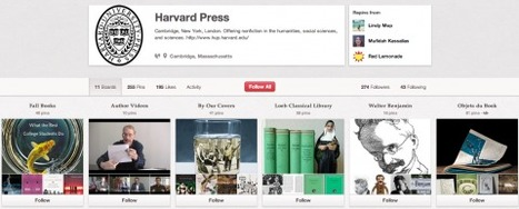 University Presses & Libraries Turn to Pinterest to Promote Books, by Kate Rix | The Information Professional | Scoop.it