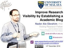 Improve Research Visibility by Establishing a Academic Blog   Pedagogy and technology of online learning   Scoop.it