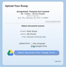 Essay Tagger: Latest update: Google apps and Drive integration is here!! | Using Google Drive in the classroom | Scoop.it