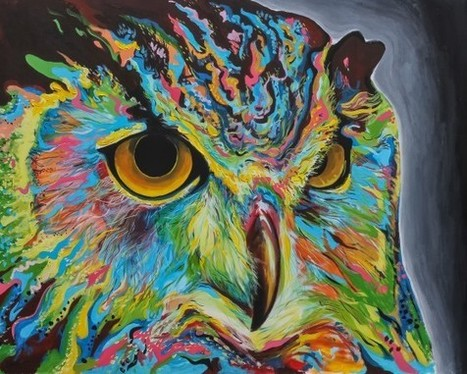 Color + Design Blog / Colorful Owl Art Pieces by COLOURlovers :: COLOURlovers | regard par la fenêtre de lestoile sur les arts | Scoop.it