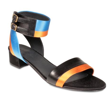e846840a1c4c7 Balenciaga Womens Shoes Orange Satin Leather Gladiator Sandals (BAL1501)