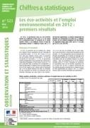 """Les éco-activités et l'emploi environnemental en 2012 : premiers résultats - Ministère du Développement durable   """"Emplois verts et éco-activités""""   Scoop.it"""