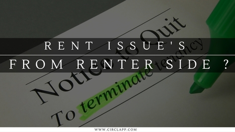 RENT ISSUES FROM RENTER SIDE ?   Circlapp - Real Estate Rental Services   Scoop.it
