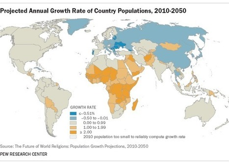 The Future of World Religions: Population Growth Projections, 2010-2050 | JWK Geography | Scoop.it