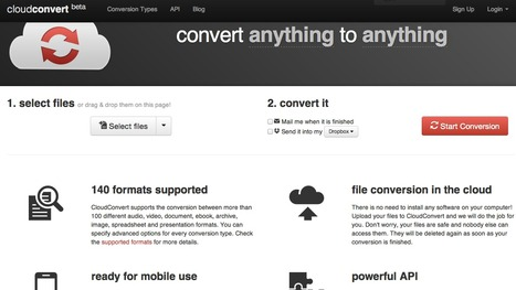 Convert Anything to Anything - Cloud Convert | Training in Business | Scoop.it