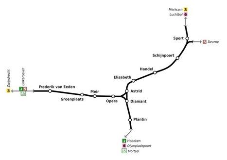 premetro antwerps subway map belgium
