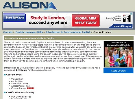 Introduction to Conversational English Online Course | Inclusive Education | Scoop.it