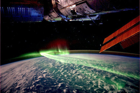 Aurora australis seen from the International Space Station | Weird Science | Scoop.it