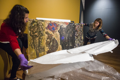 How the Aga Khan mounted a 12-foot-tall mural from Syria | News in Conservation | Scoop.it