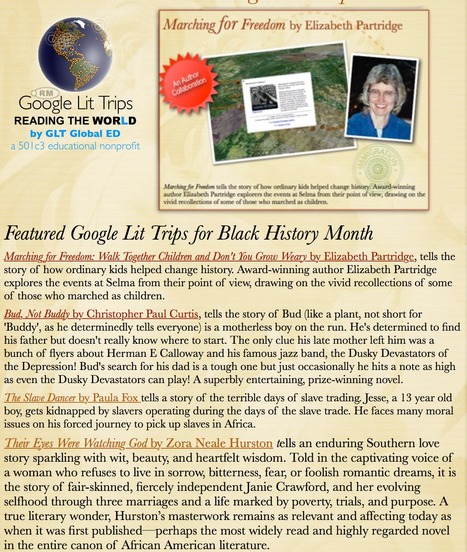 Featured Google Lit Trips for Black History Month | Google Lit Trips: Reading About Reading | Scoop.it