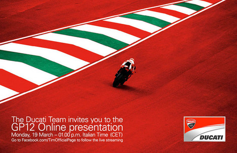GP12 to be presented on-line | Ducati news | Scoop.it