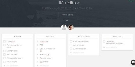 Worklife : un outil pour rendre les réunions plus efficaces - Blog du Modérateur | Boite à outils E-marketing | Scoop.it