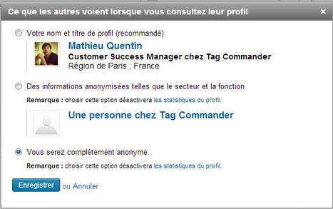 Comment voir un profil Linkedin de façon anonyme?   Freewares   Scoop.it