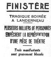 La tentation de l'émeute : théâtre laïque et réaction cléricale ( novembre 1934) | Bloghistosphère | Scoop.it