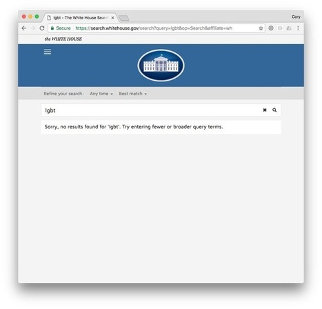 The White House's LGBT rights page has disappeared | Entrepreneurship, Innovation | Scoop.it
