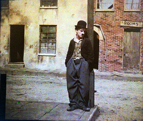 Colour photographs of Charlie Chaplin, 1917-1918 | Vintage, Robots, Photos, Pub, Années 50 | Scoop.it