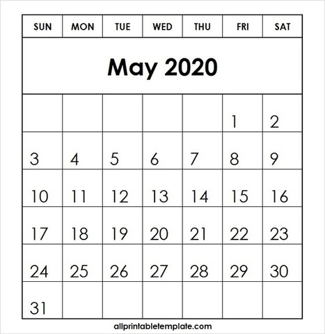 May 2020 Calendar Templates' in AllCalendar | Scoop it