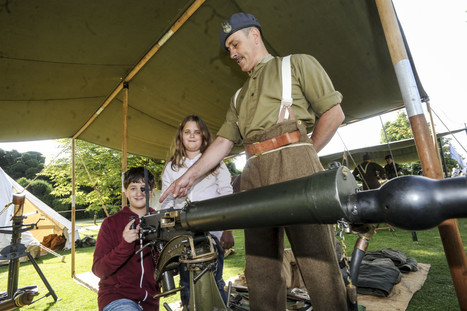 SLIDESHOW: Families flock to Audley End House for World War Two activities - Cambridge News | World at War | Scoop.it