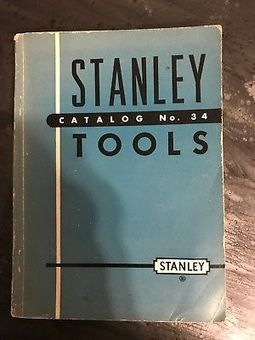 Stanley Tools 1929 Catalog Reprint Free Download