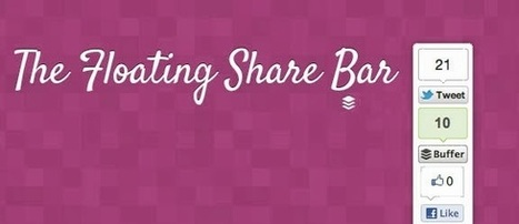 Adding floating social media sharing buttons | All Seo Tool - Seo Tips and Tricks | Social Media | Scoop.it
