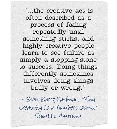 Quote Of The Day: Connecting Failure & Creativity | Creative educational learning | Scoop.it