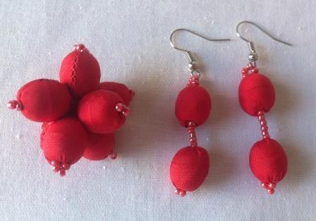 fair trade Cambodia. Leftover satin silk earrings, ring, ethically handmade by disabled home based artisans. | Craftworks Cambodia. Fair trade Crafts | Scoop.it