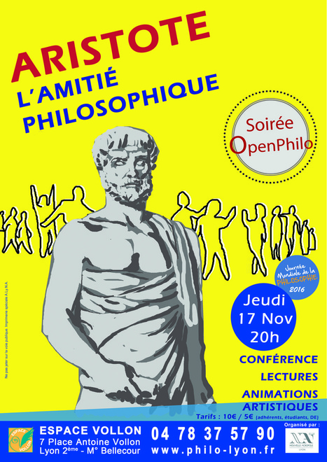 Journée mondiale de la Philosophie : l'amitié selon Aristote - jeudi 17 novembre 2016 20:00 | Philosophie en France | Scoop.it