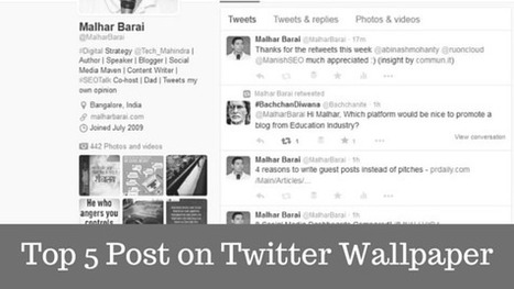 Top 5 Posts on Twitter Wallpaper Removal - Malhar Barai | Quick Social Media | Scoop.it