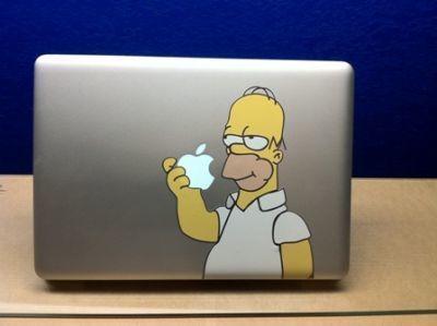 Mac Book Pro Homer Simpson Eating Apple Decal macbook | The simpsons | Scoop.it