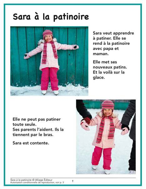 Alliage éditeur – Sara à la patinoire | FLE enfants | Scoop.it