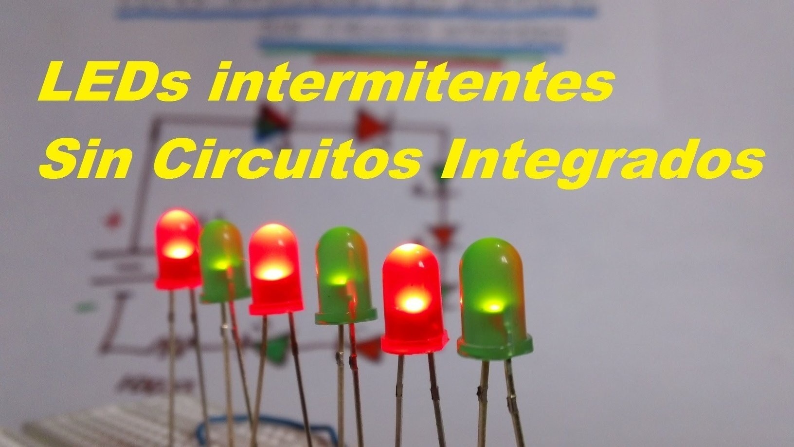 Circuito Led Intermitente : Leds intermitentes sin circuito integrado f aa