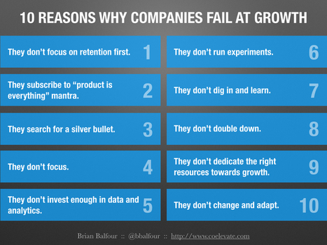 Growth Is Optional: 10 Reasons Why Startups Fail At Growth | My Blog 2016 | Scoop.it