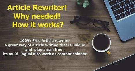 Article Rewrite  Scoopit Free Article Spinner Online Tool