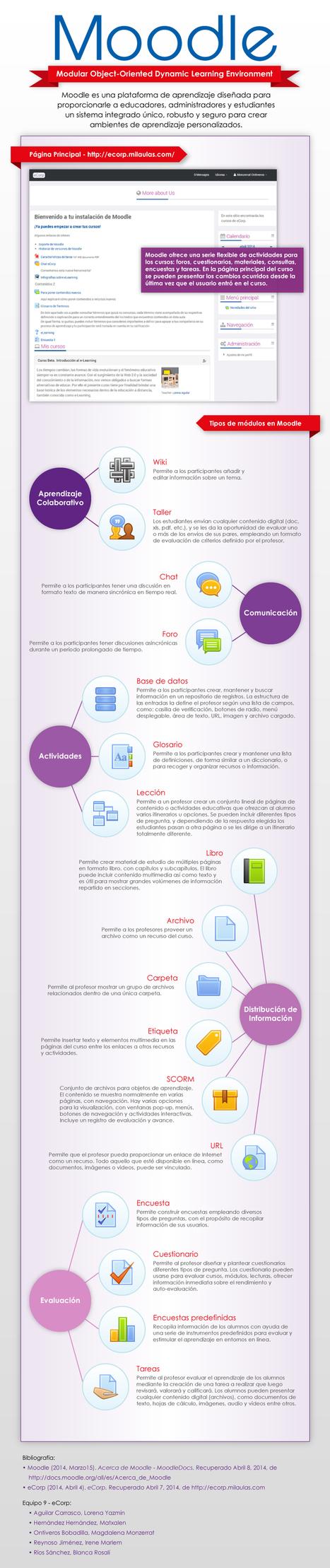 Moodle: qué es y elementos que lo integran #infografia #infographic #education | LOS MEJORES HALLAZGOS DE DANIELA AYALA | Scoop.it
