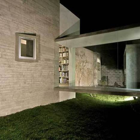 Residence and Artist's Studio Connected by Glass Bridge | sustainable architecture | Scoop.it
