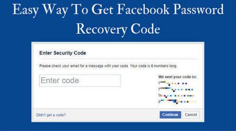 Facebook password recovery helper code' in Online Technical