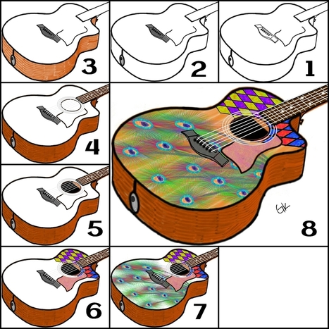 guitar drawing reference in drawing references and resources