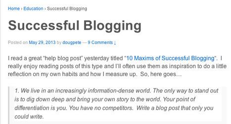 Successful Blogging | UV 2.0 | Scoop.it