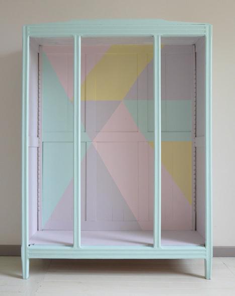 DIY | Une armoire vintage métamorphosée… | décoration & déco | Scoop.it