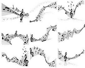 Notas musicales y pentagrama en vector (Music Score and notes in vector) | Recursos diseño gráfico | Scoop.it