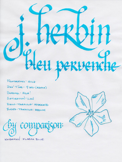 ink review: j herbin bleu pervenche | Writing instruments | Scoop.it