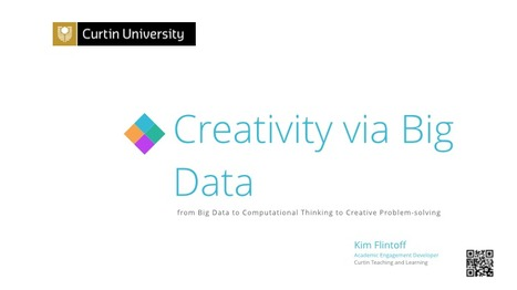 Creativity via Big Data: from big data to computational thinking to creative problem-solving (innovation) | Wikipedia & Learning Support 1 | Scoop.it