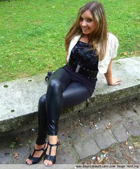 Girl in enger leggins - 1 2