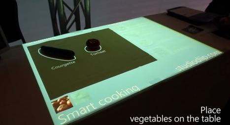 Une surface tactile qui reconnaît les légumes pour vous proposer des recettes | Technologies numériques et innovations | Scoop.it