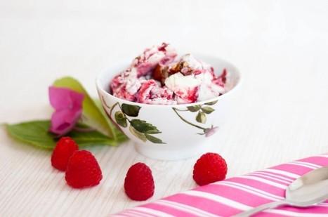 LowCarb Himmbeer Cheesecake Eis mit kandierten Mandeln | Brownies, Muffins, Cheesecake & andere Leckereien | Scoop.it