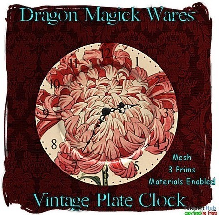 Vintage Plate Clock Group Gift by Dragon Magick Wares | Teleport Hub - Second Life Freebies | Second Life Freebies | Scoop.it